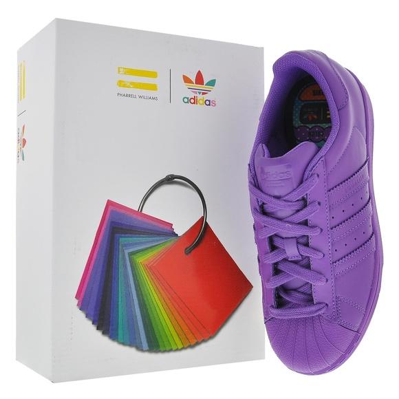 NIB Adidas Superstar Supercolor Pack Pharrell NWT